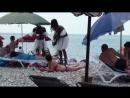 Абхазия Новая Гагра Пляж Июнь 2017г
