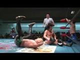 Mitsuya Nagai, Takeshi Minamino vs. Atsushi Aoki, Hikaru Sato (AJPW - New Year Wars 2017 - Day 4)