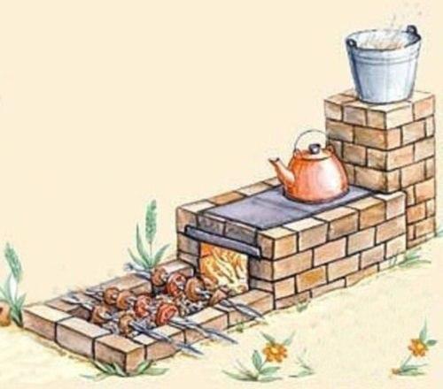 Печка на улице маленькая