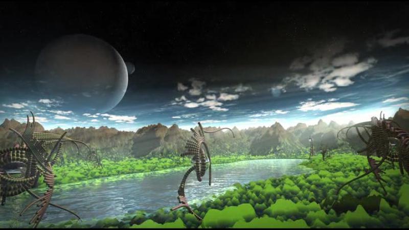 Лунный свет-4, путешествие в фантастические миры --Космическое релакс видео(2016)г.