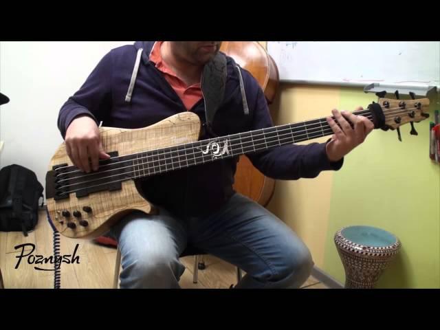 Бас-гитара Дракончик, работы Дмитрия Позныша Poznysh guitars демонстрация