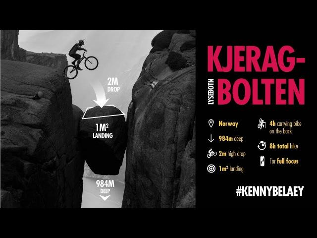 Bike drop on Kjerag Bolten, by Kenny Belaey