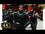 Чёрная Пантера против Зимнего Солдата. Погоня Первый мститель Противостояние 4K ULTRA HD