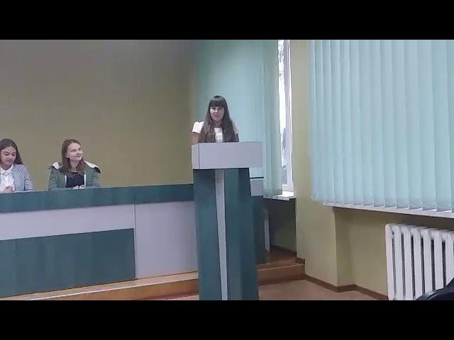 Виступ на конференції Молодіжної дорадчої ради при міському гоові М. ШОСТКА