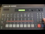 KAWAI R-100 E, 12-bit 80s Drum Machine, Patterns 22