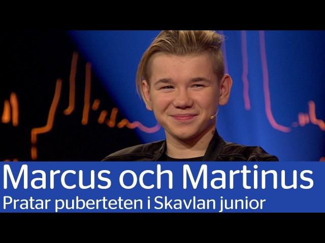 Marcus och Martinus pratar om puberteten i Skavlan jr