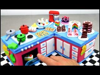 ( https://vk.com/lakomkavk) How To Make a KITCHEN CAKE with Miniature Cakes by CakesStepbyStep