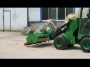 STEEL CAMEL mini loader M910 with flail mower for farming