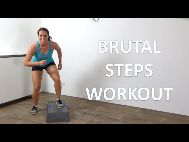 10 Minute Brutal Cardio Step Up Workout – Intense Cardio Steps Exercises