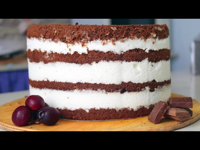 Похрустим Шоколадный торт с черешней, хрустящей прослойкой и йогуртовым кремом - Я - ТОРТодел!