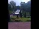 Касакадный фонтан в парке Петергофа