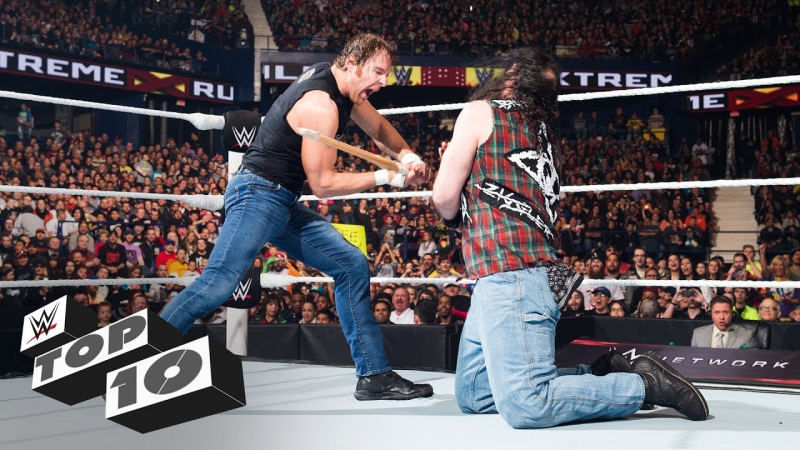 [WWE QTV]☆[Top 10]WWE Extreme Rules lethal weapons]☆[Tоп 10]