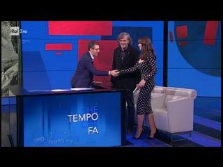Monica Bellucci ed Emir Kusturica del 07 05 2017 ( 'Che Tempo Che Fa')