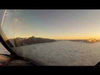 Захватывающий полет над Новой Зеландией