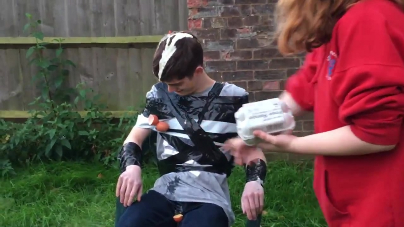 Duct tape challenge with a TWIST - REVENGE ON BOYFRIEND