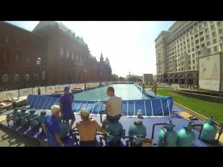 Установка вейк-парка на площади Революции, август 2017 г.