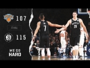 Тимофей Мозгов набрал 4 очка в предсезонном матче с «Никс» (Brooklyn Nets - New York Knicks 115:107) #wegohard