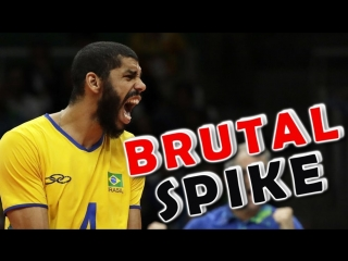 Top 10 best brutal  spikes  - powerful volleyball spikes - volleyball 2017