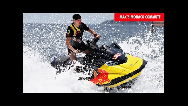 Not your average F1 commute! Max Verstappen's grabs big air on Jetski at the Monaco Grand Prix