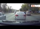 На Восточной водитель неудачно повернул налево через три ряда