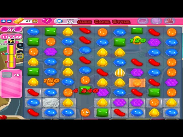 Candy Crush Saga Level 25 Only 3 StarS (4 Place - Top List)