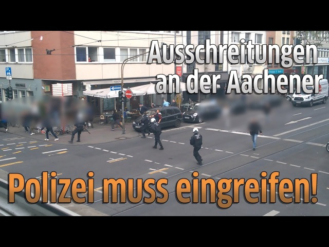 Köln: Ausschreitungen in Köln, Belgrad-Fans zünden Bengalos beim Fanmarsch