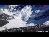 Amazing!!! Huge avalanche in Torres Del Paine, Chile....