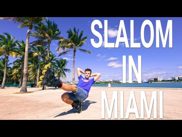 Freestyle slalom skating in Miami 2017
