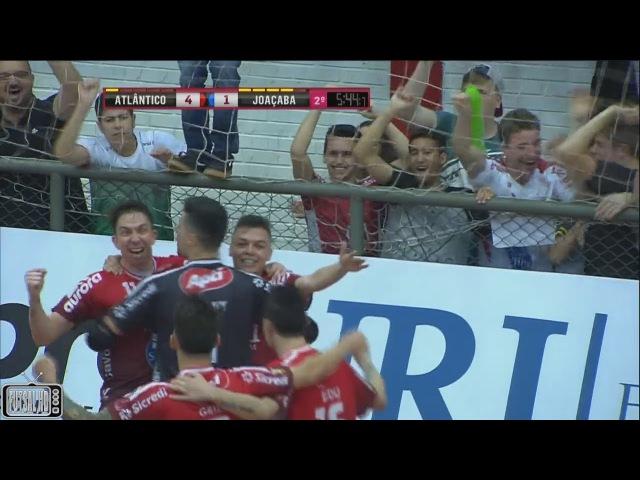 Gols Atlântico 4 x 1 Joaçaba Oitavas de Final Jogo 2 Liga Nacional de Futsal 2017 30 09 2017
