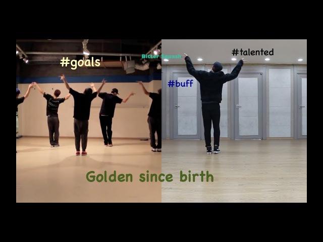 Predebut Jungkook dance practice VS original choreo