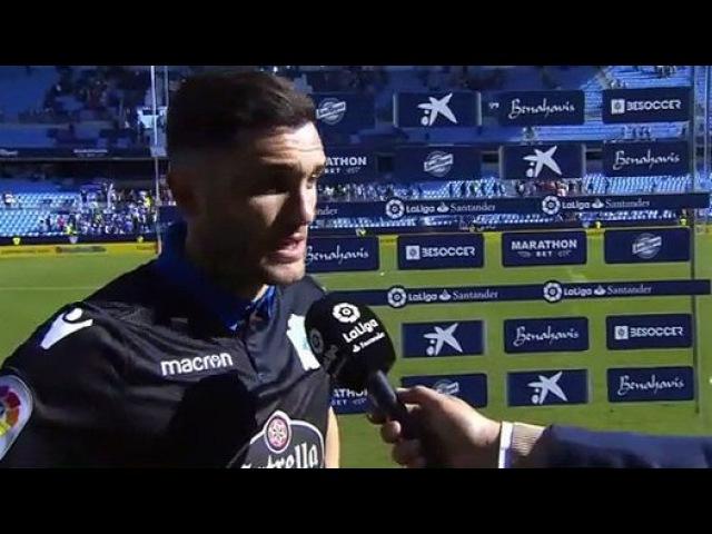 Lucas perez post match interview Malaga 3-2 Dep. La Coruna 19.11.2017 - vidéo Dailymotion