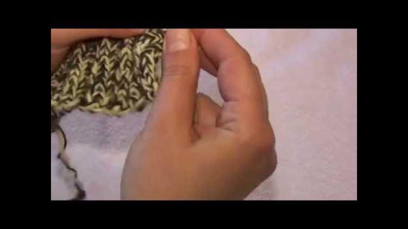 Носки для ребенка 1,5 - 2 года на двух спицах ( резинка )