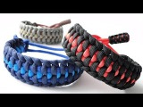 How to Make a Mated Half Hitch Paracord Survival Bracelet -Mad Max Adjustable Style-Cobra End Knot