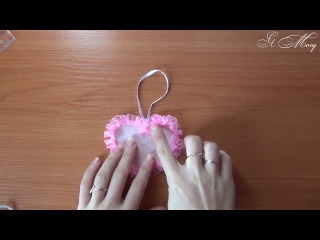 Сердце в технике канзаши. Валентинка своими руками.