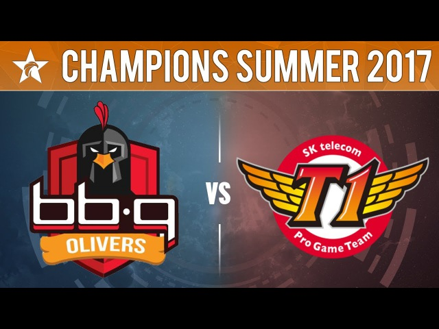 BBQ vs SKT Game 2 LCK Summer Split 2017 BBQ Olivers vs SKTelecom T1 G2