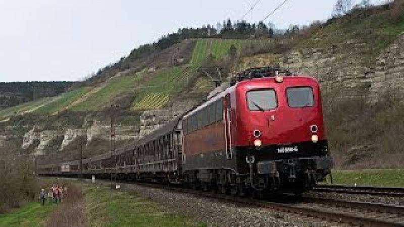 Güterzüge im Blockabstand im Maintal: WLE BR 187 mit Warsteiner, BayernBahn 140 uvm.