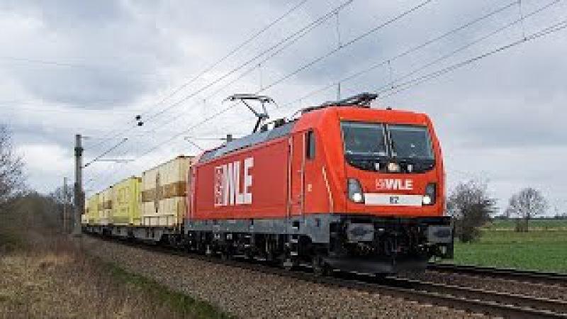 Güterzüge im Blockabstand zwischen Hannover - Braunschweig, WLE 187, Captrain Vectron uvm.