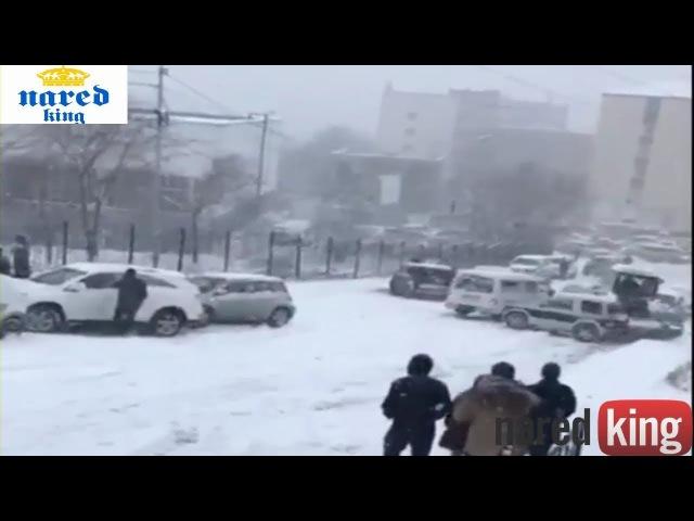 حوادث السيارات نتيجة لكثافة الثلوج Snow density causes car accidents 17,no