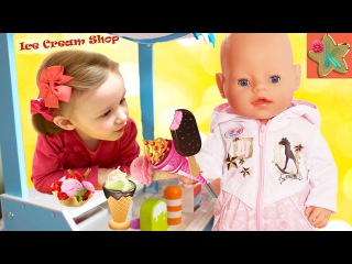 ☆ Bad Baby КУКЛА Беби Бон В МАГАЗИНЕ МОРОЖЕНОГО Вредные Детки Baby Born Doll in the ice cream Shop