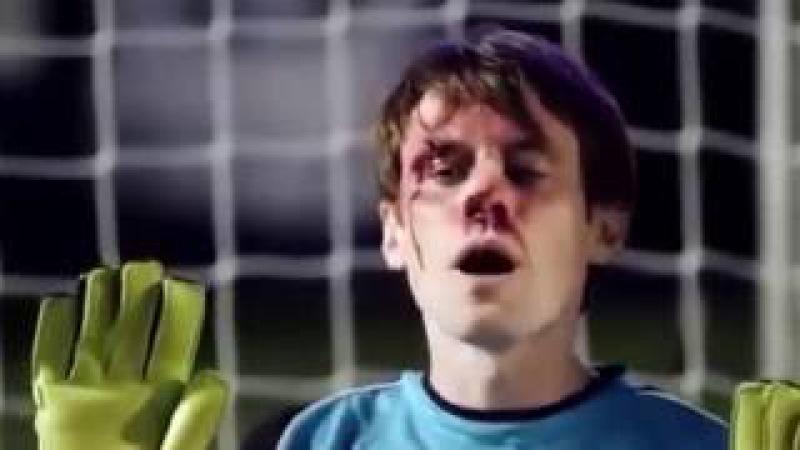 Вратарь отбил своим лицом все 5 пенальти