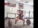 Николь Гонзалес - тяга 193 кг на 3 повтора (60 кг)