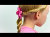 Прическа с косой-жгут для маленьких. Прическа в садик (школу) за 5 минут #8