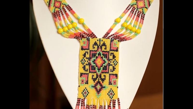 ГЕРДАН из бисера своими руками! МК - Станочное плетение _ Ethnic necklace of bea