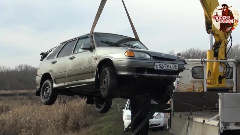 В утонувшей в пруду машине в Воронежской области погибли две сестры и 12-летняя девочка