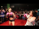 Our ring girl was our first official girl fight boxing