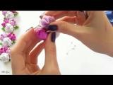 ЛЕНТА В КОСУ, МК - DIY Kanzashi Ribbon Braid
