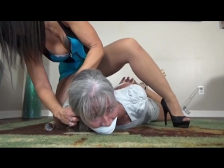 Gigi Hogties Mature Woman