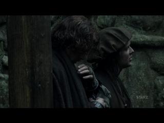 Сник пик из 3 серии 3 сезона - Встреча лорда Джона Грея и Джейми рус.суб.