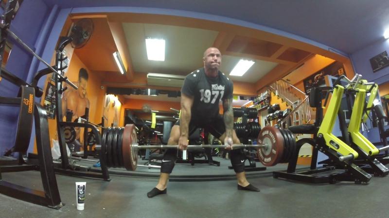 Deadlift 250kg/551lb 1-2 reps