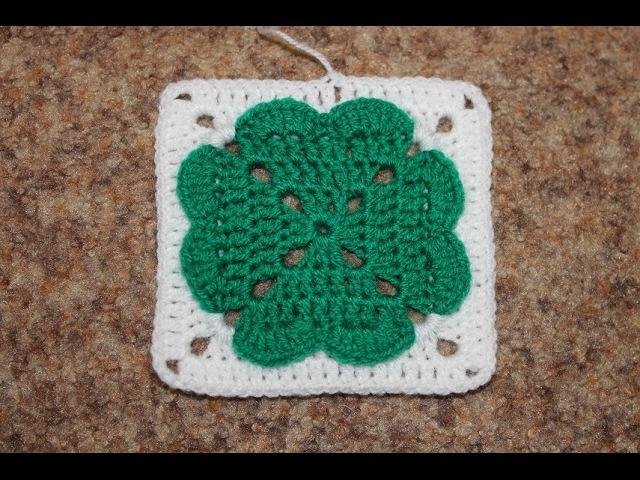 Квадратный мотив крючком №3 Square Crochet Motif